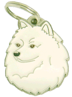 GERMAN SPITZ WHITE - pet ID tag, dog ID tags, pet tags, personalized pet tags MjavHov - engraved pet tags online